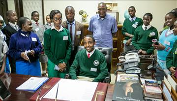 SPOTLIGHT: Student meets President Kenyatta after being selected for PURES programme