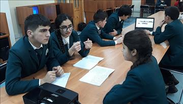 Business modeling at Aga Khan Lycée, Khorog, Tajikistan